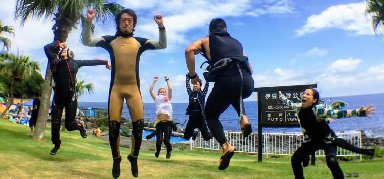 伊豆海洋公園史上初!夏のナイトダイビング開催!
