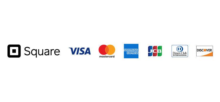 クレジットカードご利用いただけます!