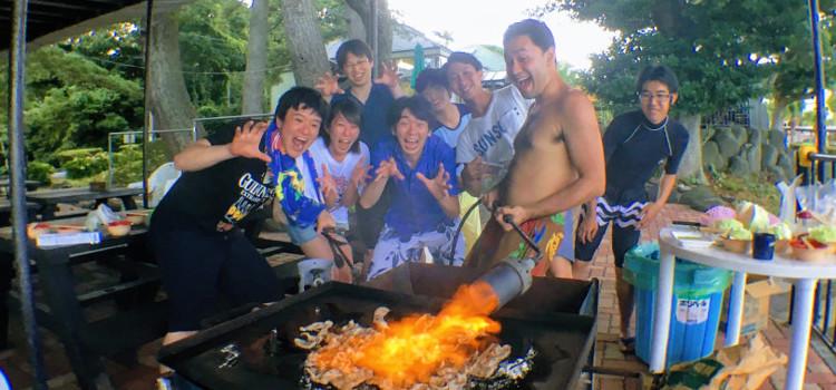 アフターダイブは伊豆海洋公園でビーチパーティー!