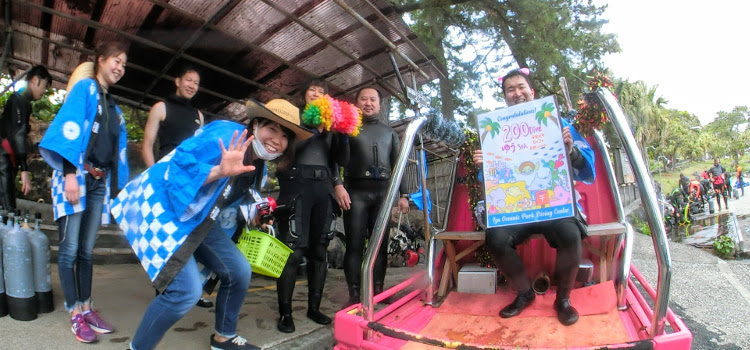 200本記念ダイビング!@伊豆海洋公園