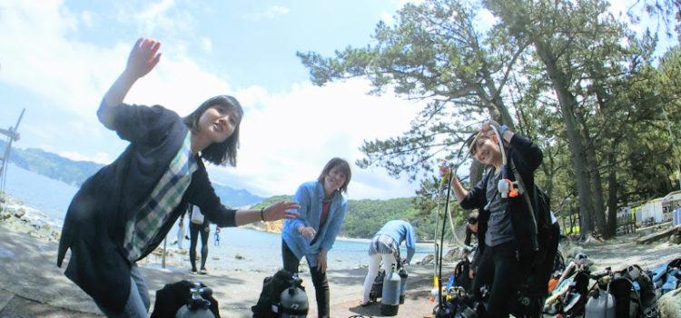久しぶりの青い海!黄金崎公園でのんびりダイビング!