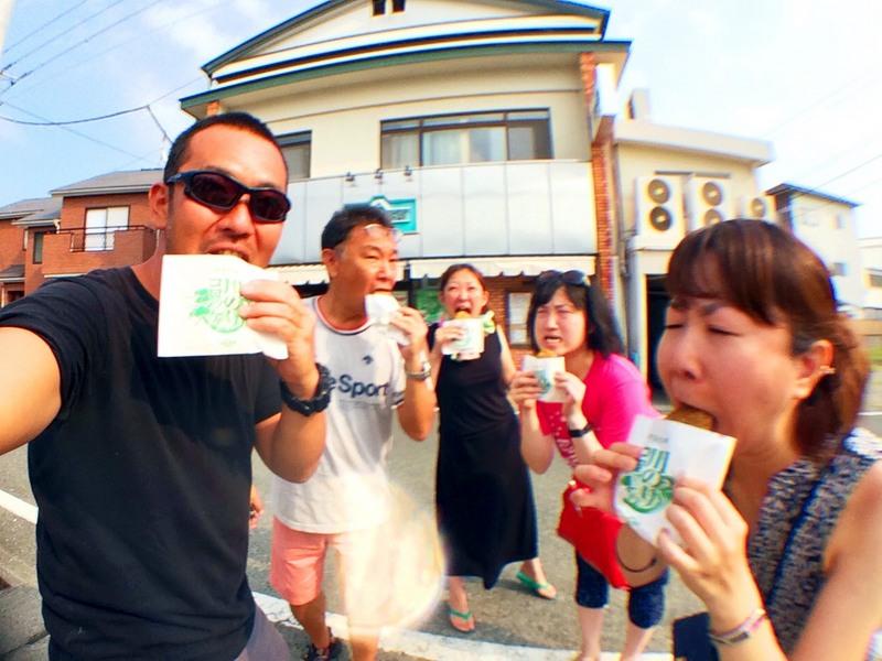 松崎町アサイミートで川のりコロッケ食べる!