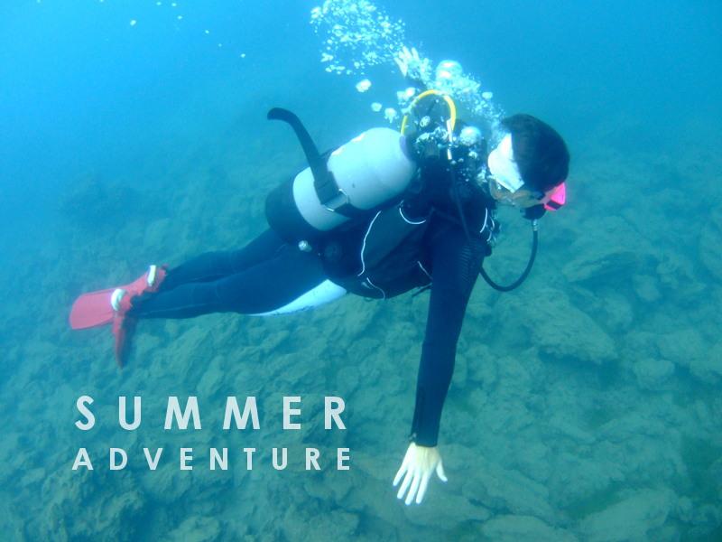 本栖湖,ダイビング