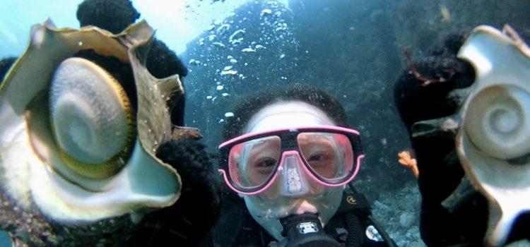 体験ダイビングでサザエゲットだぜ!(できません)伊豆海洋公園。
