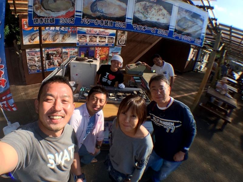伊豆海洋公園で牡蠣!