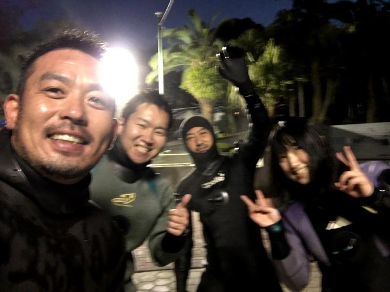 大晦日は伊豆海洋公園でナイトダイビング!